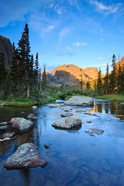 Rocky Mountain National Park, Colorado, The Loch, Loch Vale, Glacier Creek, Sunrise, photo