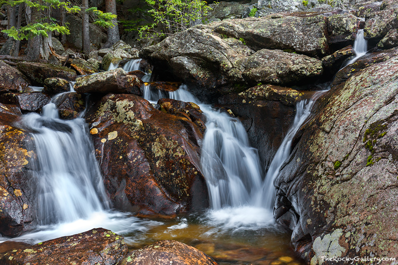 Located along the North Inlet on the west side of Rocky Mountain National Park is Cascade Falls. By Rocky Mountain National Park...