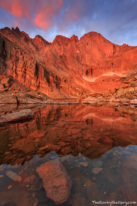 At 14,255 ft above sea level, Longs Peak is the highest peak in all of Rocky Mountain National Park and the 15th highest '14er...