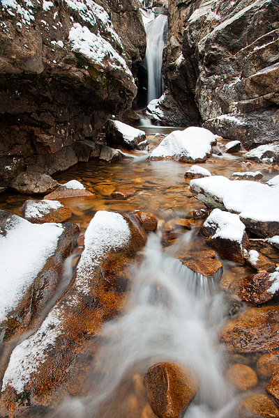 Chasm Falls,Rocky Mountain National Park,Colorado,Old Fall River Road,snow,winter,hike, photo