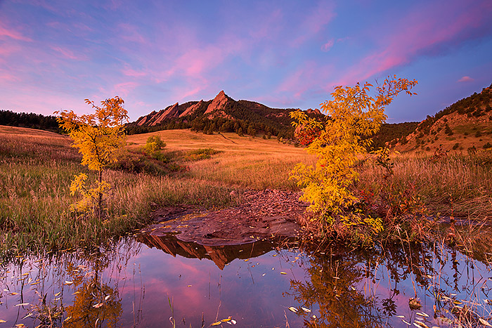 Boulder,Colorado,Open Space,Autumn,Fall,Chautauqua,Park,Meadow,Reflections , photo