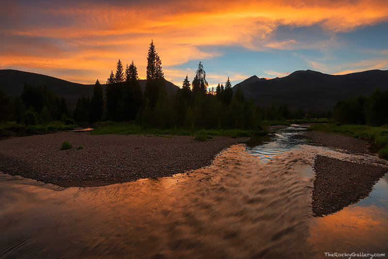Colorado,River,RMNP,Kawuneeche Valley,Rocky Mountain National Park,Landscape,Photography,Sunset,Water,Headwaters,Grand Lake,Trail Ridge Road,West Side, photo