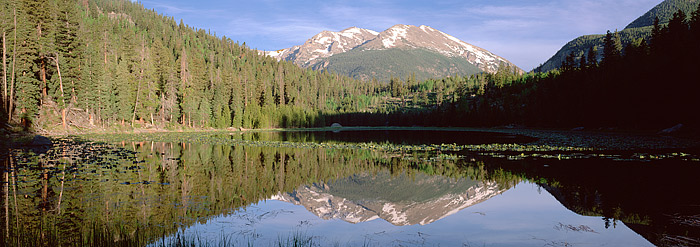 Stones peak reflects in Cub Lake as another beautiful morning unfolds in Rocky Mountain National Park. Cub Lake is an easy 2...