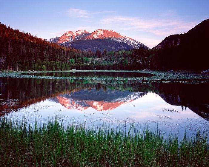 Rocky Mountain National Park, Colorado, Cub Lake, Stones Peak, Spring, photo