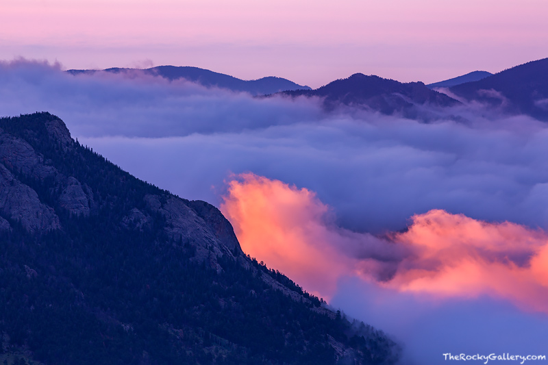 Deer Mountain,Inversion,sunrise,estes park,colorado,Rocky Mountain National Park,RMNP,Estes Park,Trail Ridge Road,Landscape,Photography, photo