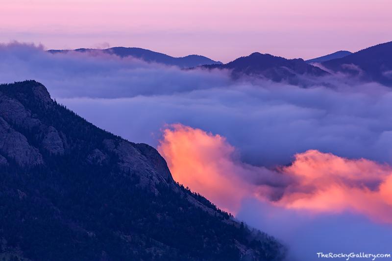 Deer Mountain,Inversion,sunrise,estes park,colorado,Rocky Mountain National Park,RMNP,Estes Park,Trail Ridge Road,Landscape,Photography, photo