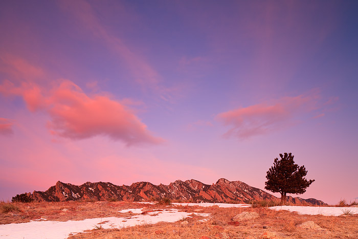 Boulder, Colorado, Doudy Draw, Flatirons, Sunrise, Clouds, Open Space and Mountain Parks, OSMP, photo