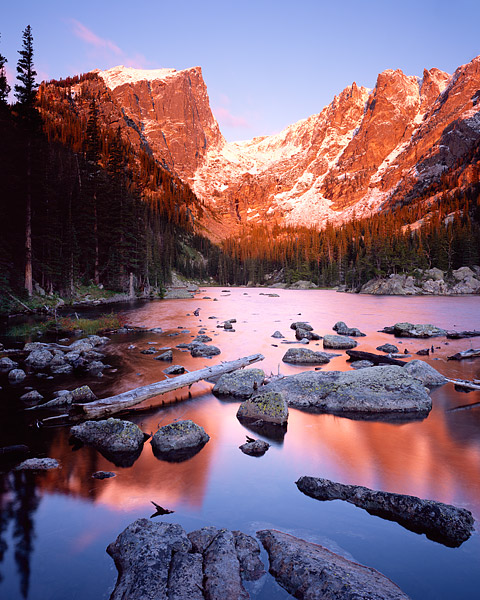 Rocky Mountain National Park, Dream Lake, Bear Lake, Colorado, Hallet Peak, Flattop Mountain, snow, photo