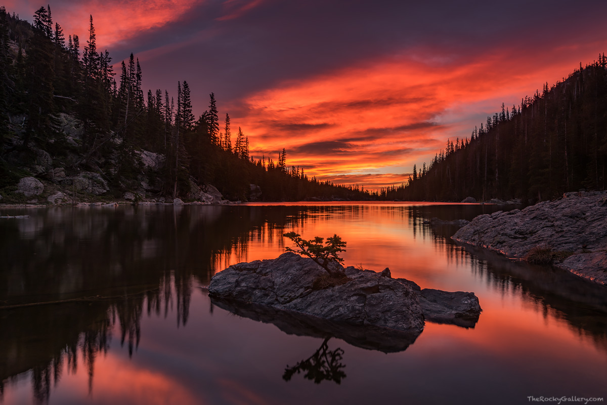 Dream Lake, Rocky Mountain National Park,Colorado,Landscapes,Sunrise,Clouds,Photography,Estes Park,Bear Lake Road,Hiking,reflection,RMNP,icon, photo