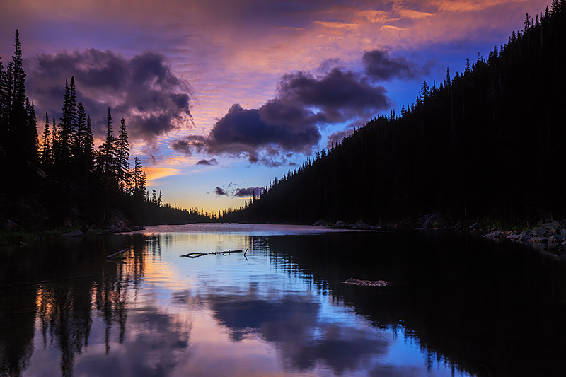 Dream Lake,Hallett Peak,Flattop Mountain,Rocky Mountain National Park,Colorado,Estes Park,Photography,Sunrise,Landscape,RMNP,Clouds,Reflections, photo
