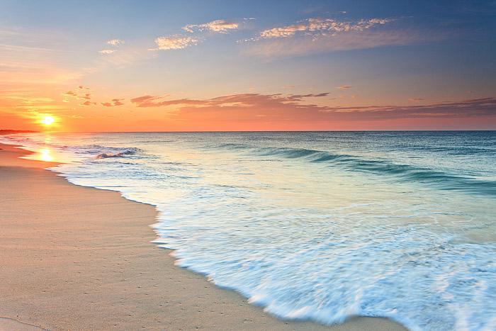 New York, Southampton, Dune Beach, Sunrise, Ocean, Hamptons, photo