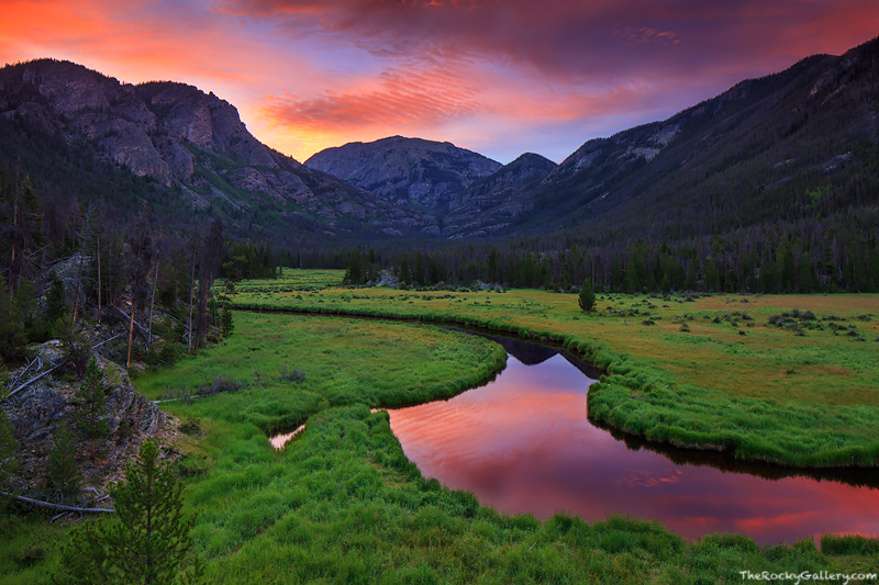 East Inlet,East Meadown,Grand Lake,Sunrise,Rocky Mountain National Park,Colorado,the west side,mount craig,mount baldy, photo