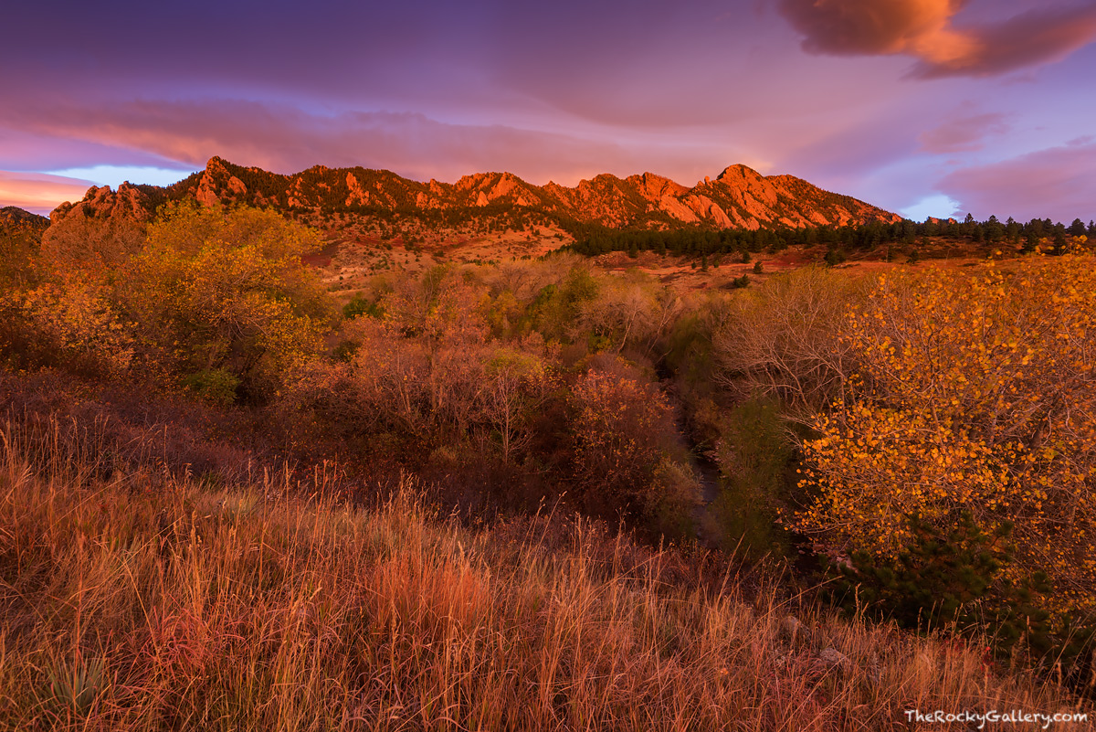 Eldorado Springs,Colorado,Boulder,Open Space and Mountain Parks,South Boulder Creek,OSMP,Landscape,Photography,The Flatirons,Sunrise,Autumn,Fall, photo