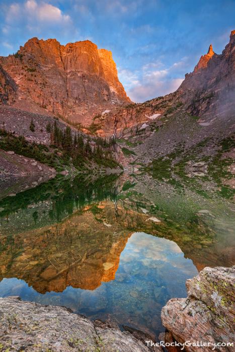 Rocky Mountain National Park, Colorado, Emerald Lake, Hallett Peak, Flattop Mountain, Sunrise,Bear Lake Trailhead,Bear Lake Road,Landscape,Photography,RMNP,Estes Park,July, photo