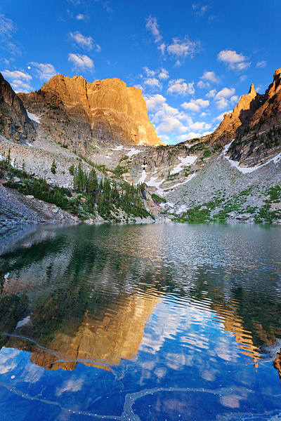 Emerald Lake, Rocky Mountain National Park, Hallet Peak, Colorado,reflections,hallet peak, photo