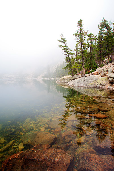 Rocky Mountain National Park, Emerald Lake, Colorado, Fog, Flattop Mountain, photo