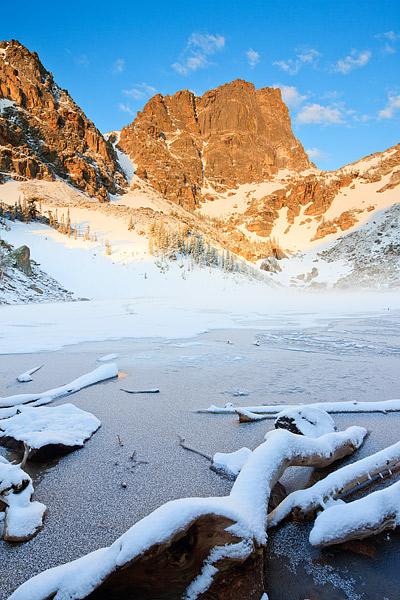 Rocky Mountain National Park, Emerald Lake, Colorado, Bear Lake Area, Snow, Spring, Hallet Peak, photo