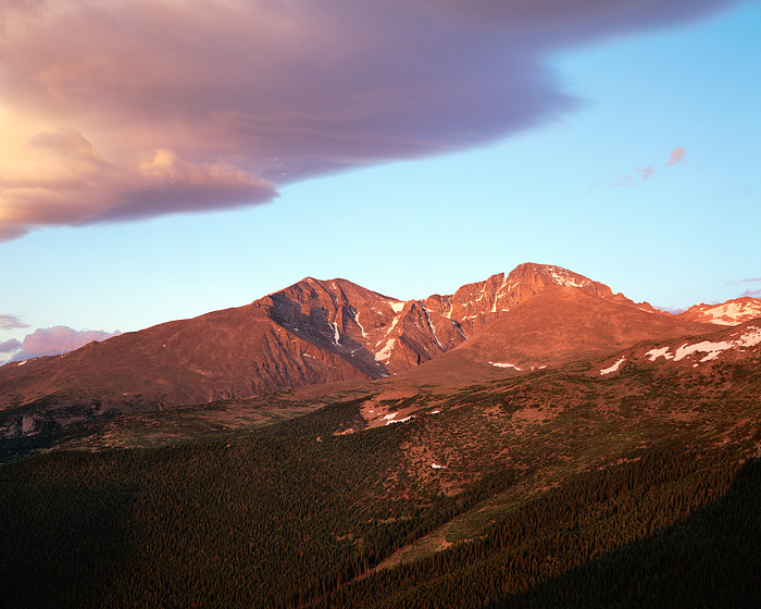 Rocky Mountain National Park, Colorado, Longs Peak, Mt. Meeker, Estes Cone, photo