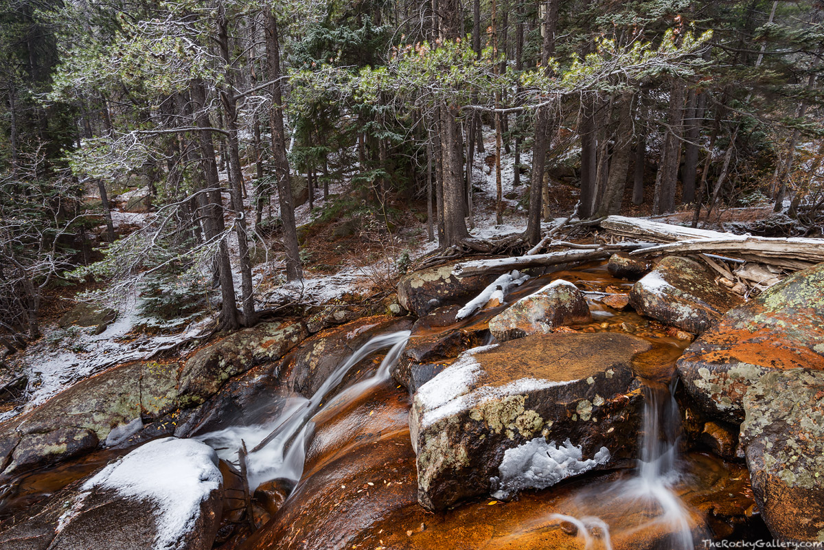 Fall River,Snow,October,Rocky Mountain National Park,Colorado,Estes Park,RMNP,Fall River Road,Rocks,Landscape,Photography,Chasm Falls, photo