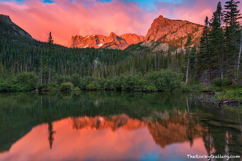 Rocky Mountain National Park,Colorado,RMNP,Estes Park,Fern Lake,Bear Lake,Sunrise,Photography,Landscape,Notchtop,The Little Matterhorn,The Gable,Reflections, photo