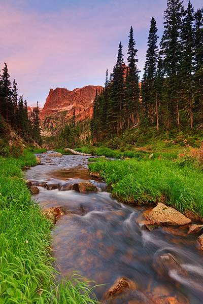 Fern Creek, Notchtop Mountain,Colorado,Rocky Mountain National Park, Sunrise, Odessa Lake, photo