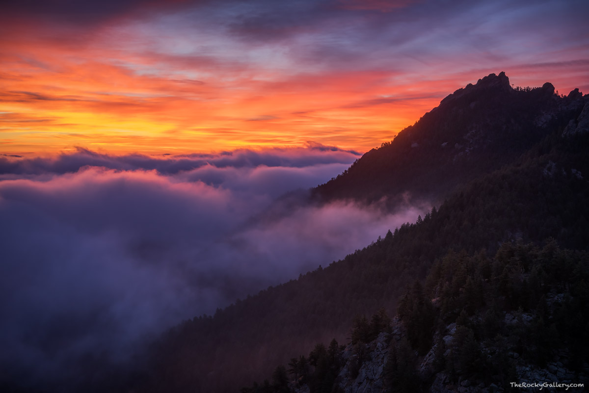 The Flatirons,Sunrise,OSMP,Landscape,Photography,October,Boulder,Colorado,Inversion,Fog,Open Space and Mountain Parks,Flagstaff,Flagstaff Road,Summit,iconic,Chautauqua Park,Eastern Plains, photo