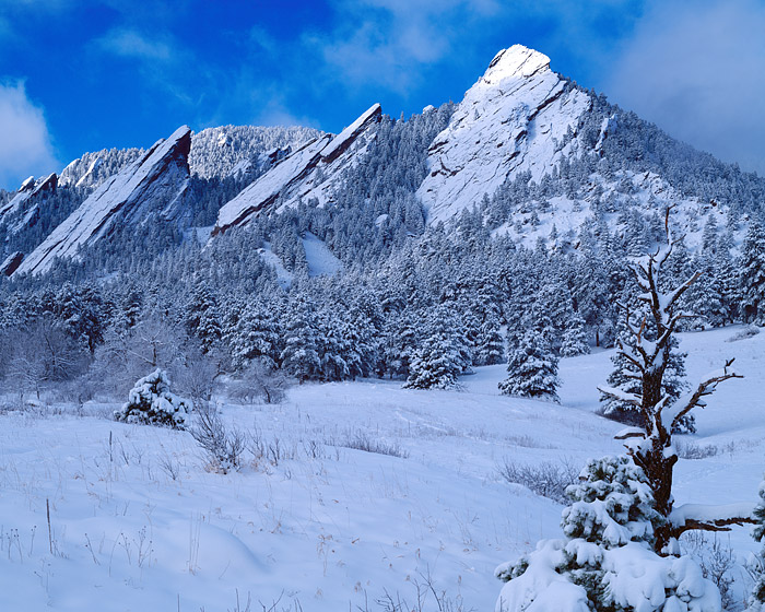Boulder, Chautaugua Park, Open Space, Colorado, Snow, Flatirons, OSMP, photo