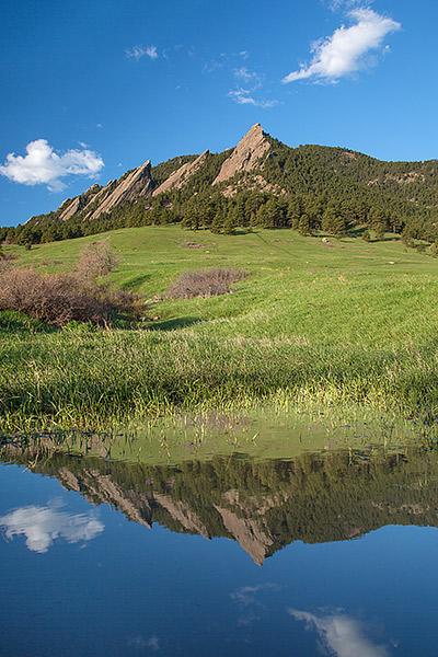 Chautauqua,Park,Meadown,Boulder,Flatirons,Reflections,Spring,Colorado, photo