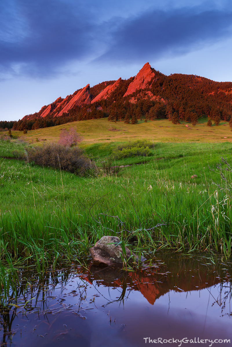 Boulder,Colorado,OSMP,Open Space And Mountain Parks,Sunrise,Reflection,May,Chautauqua Park,Chautauqua Meadow,Spring,The Flatirons,Landscape,Photography,iconic, photo