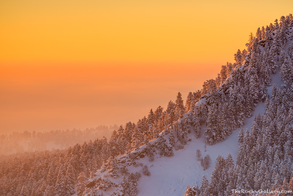Boulder,The Flatirons,Colorado,Open Space and Mountain Parks,OSMP,Landscape,Photography,Sunrise,Inversion,Foggy,Chautauqua Park,Flagstaff Mountain,Front Range,foothills,February,Denver, photo