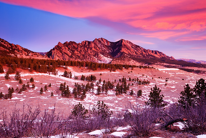 Boulder, Colorado, Flatirons, Sunrise, Clouds, OSMP, Open Space and Mountain Parks, photo