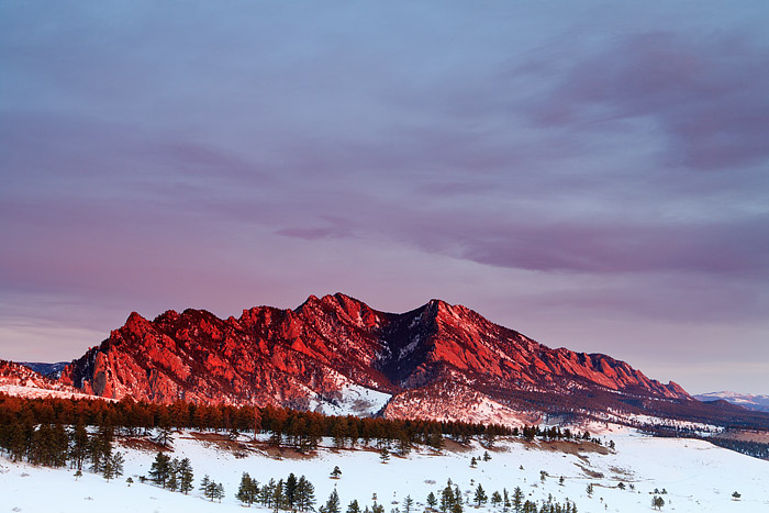 Boulder, Colorado, Flatirons, Sunrise, Open Space, OSMP, Red, photo