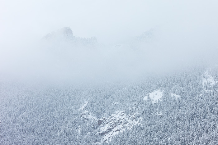 Boulder, Colorado, Flatirons, OSMP, Open Space and Mountain Parks, Flagstaff Mountain, Snow, Fog, photo
