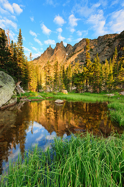 Rocky Mountain National Park, Colorado, Flattop Mountain, Tyndall Creek, photo