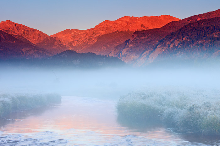 Rocky Mountain National Park,Big Thompson,Moraine Park,Stones Peak,summer,autumn,Elk,seasons,fog, photo