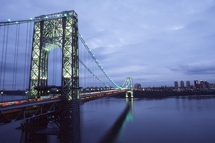 Hudson River, George Washington Bridge, Manhattan, New York City, New Jersey, photo