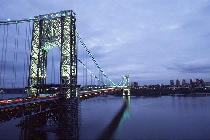 Hudson River, George Washington Bridge, Manhattan, New York City, New Jersey, photo