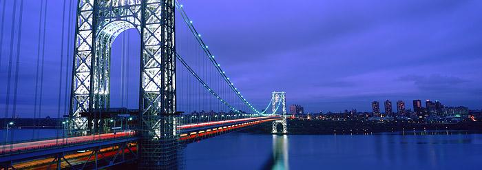 George Washington Bridge, I-95, New York, New Jersey, Bridges, Hudson River, New York City, photo