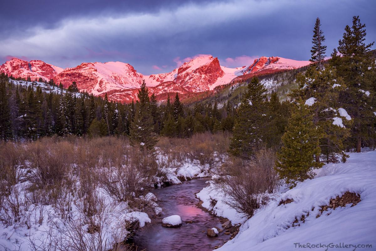Glacier Creek,Hallett Peak,Flattop Mountain,May,Otis Peak,Taylor Peak,Bear Lake Road,Sunrise,Estes Park,Landscape,Photography,Snow,Bierstadt Moraine,Storm Pass , photo