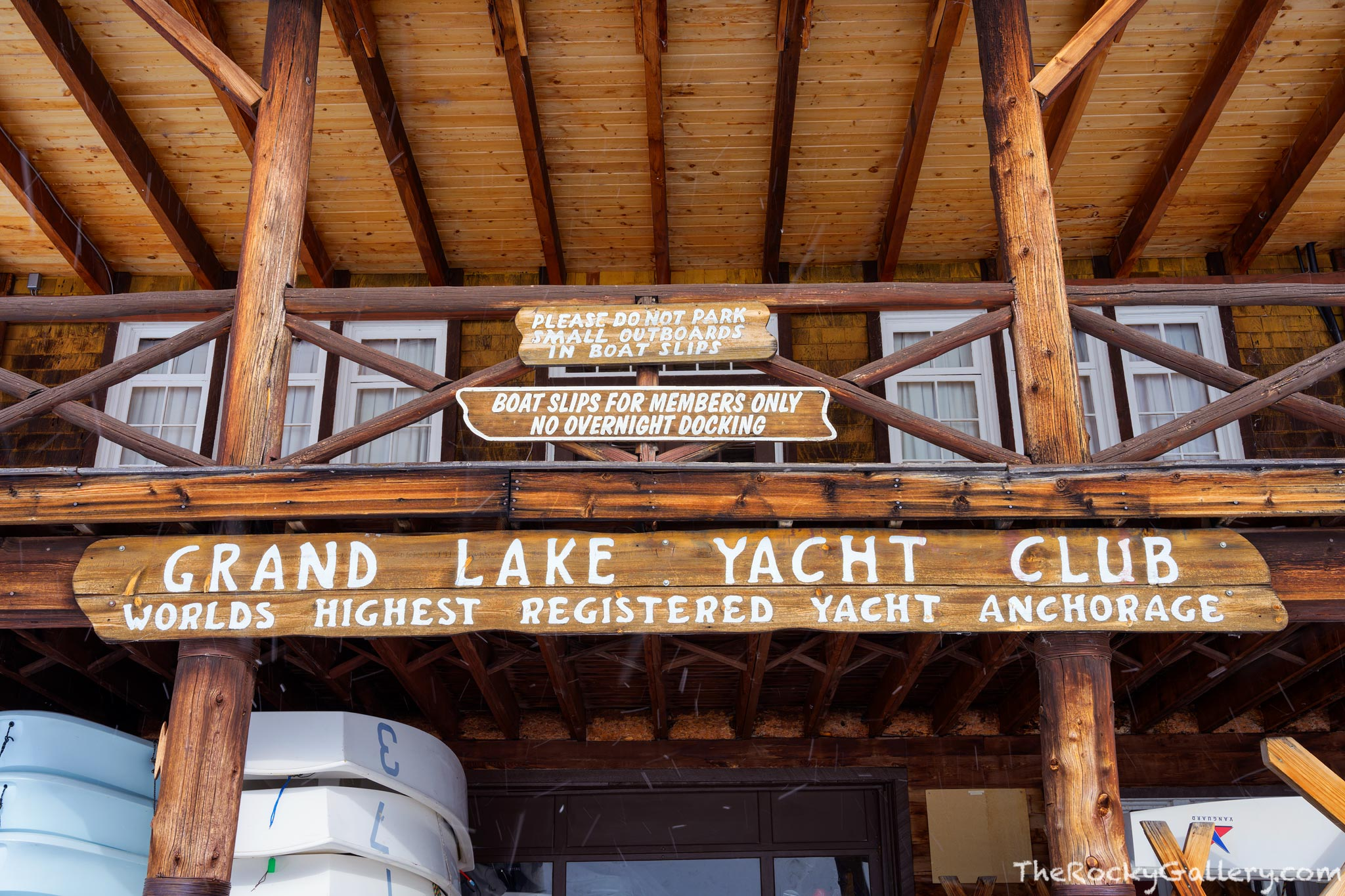Grand Lake,Colorado,Grand Lake Yacht Club,Worlds Highest Yacht Club,Grand County,Winter,January,Building,Hand of Man,Woodwork,Boats,RMNP,Rocky Mountain National Park, photo