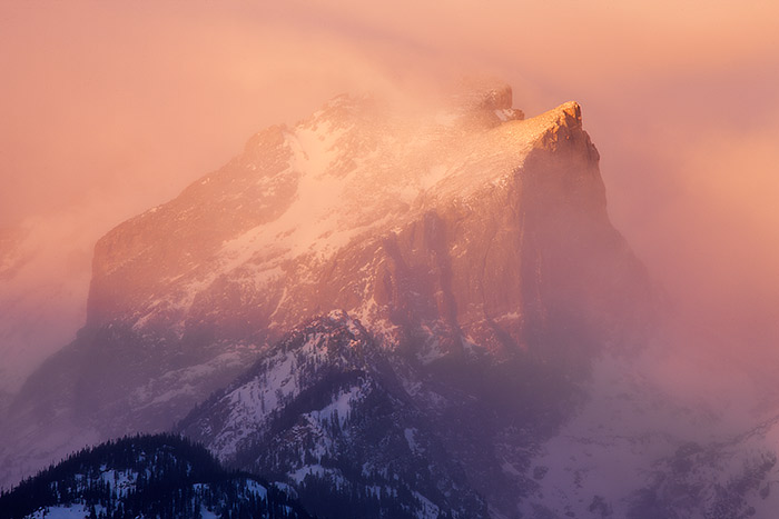 Hallet Peak,Rocky Mountain National Park,Colorado,Albert Bierstadt,winter,snow,Estes Park, photo