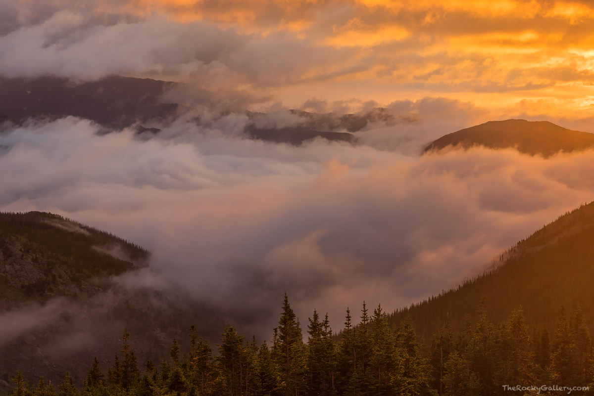 Hanging Valley,Trail Ridge Road,Inversion,Estes Park,Landcape,Photography,RMNP,Colorado,July,Fog,weather,Bighorn Mountain , photo