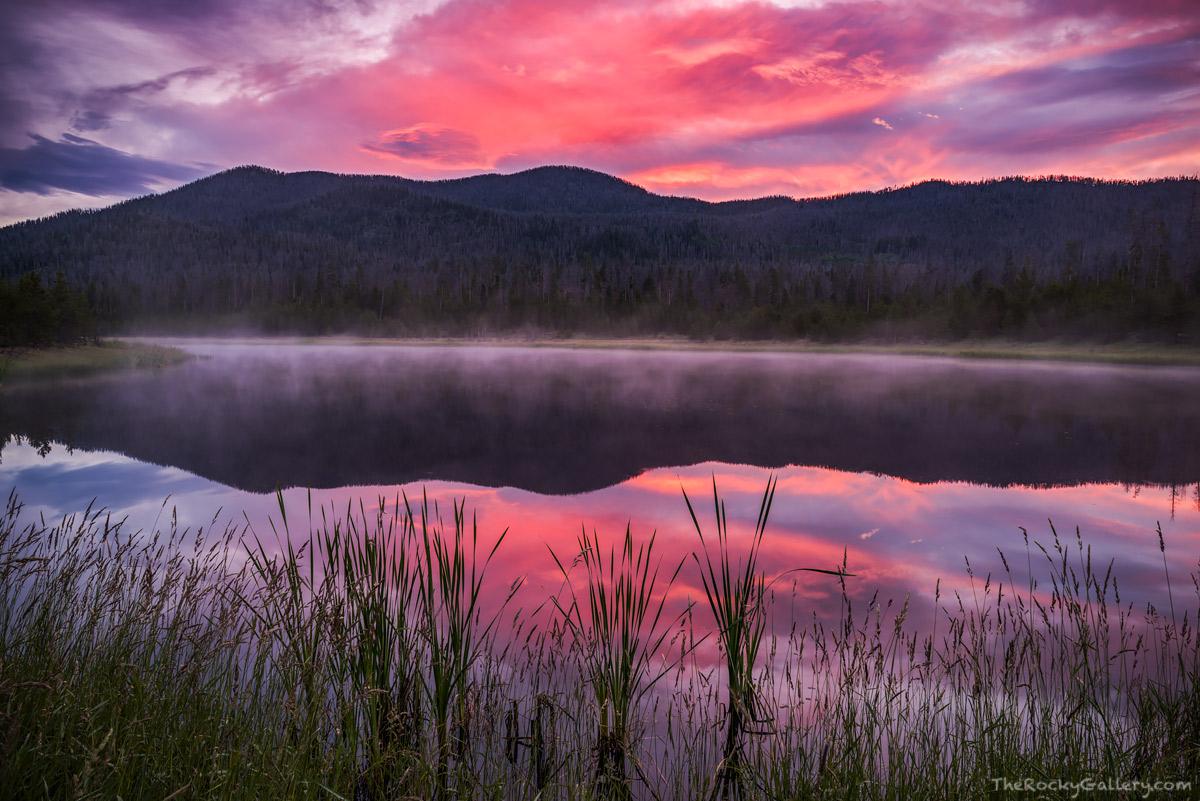 Kawuneeche Valley,West Side,Grand Lake,Rocky Mountain National Park,Sunrise,Landscape,Photography,Green Mountain,fog,Colorado,RMNP, photo