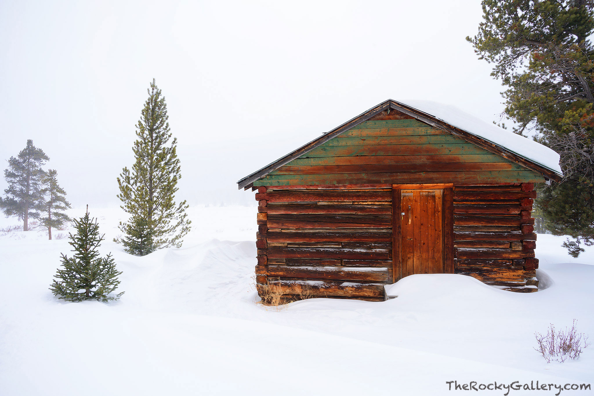 Holzwarth Historic District,Joseph Fleshut,Cabin,Kawuneeche Valley,RMNP,Rocky Mountain National Park,Colorado,Landscape,Photography,January,Winter,Holwarth Ranch,Homestead,West Side,Trail Ridge Road, , photo