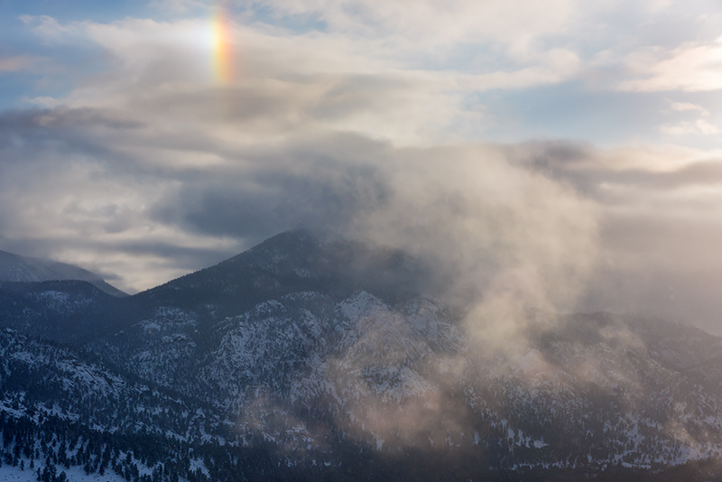 Horseshoe Park,Sun Dog,RMNP,Estes Park,Fall River,Trail Ridge Road,Snow,Ice,Crystals,Rocky Mountain National Park,Colorado,April,Snow,Storm,Photography,Landscape,McGregor Mountain,Rainbow,weather , photo