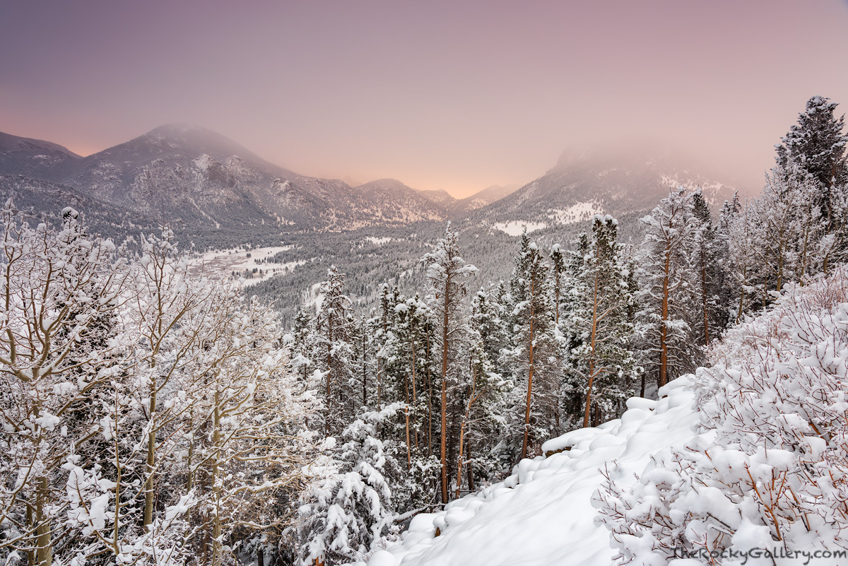 Deer Mountain,McGregor Mountain,Snow,November,Horseshoe Park,Trail Ridge Road,Sunrise,Estes Park,Fall River,RMNP,Rocky Mountain National Park,Colorado,Landscape,Photograph, photo
