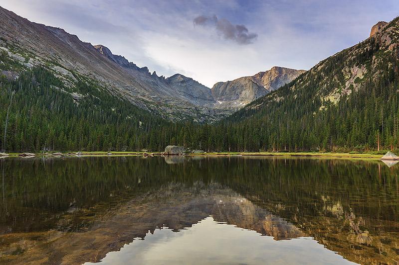 Jewel Lake,Mills Lake,Glacier Gorge,Longs Peak,Pagoda Mountain,Chiefs Head Peak, The Spearhead,Rocky Mountain National Park,Colorado,Estes Park,RMNP,Photography,Landscapes,Reflections, photo