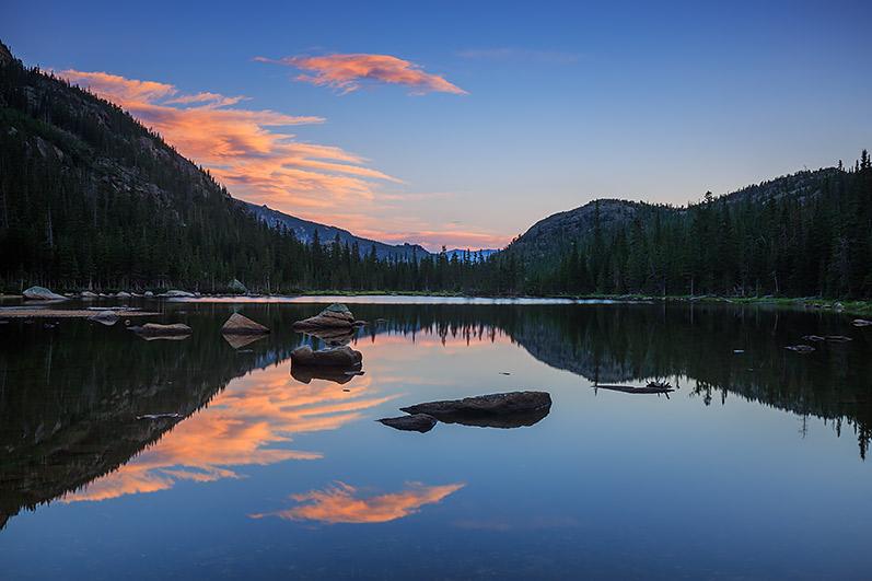 Rocky Mountain National Park,Colorado,RMNP,Rocky,Jewel Lake,Sunrise,Reflection,clouds, photo