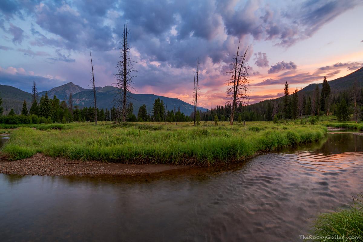 Colorado River,Kawuneeche Valley,west side,Grand Lake,Trail Ridge Road,Sunrise,Baker Mountain,July,Landscape,Photography,RMNP,Colorado,Rocky Mountain National Park,RMNP, photo