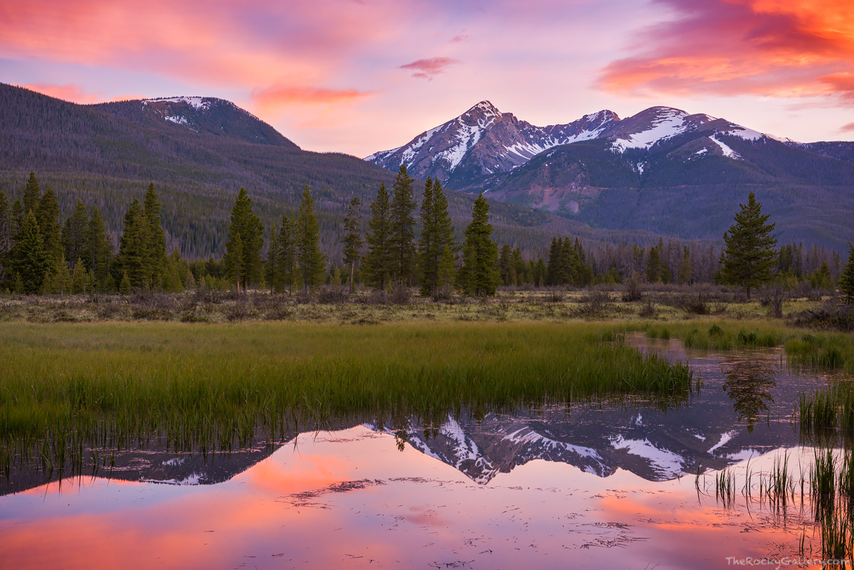 Kawuneeche Valley,Grand Lake,Rocky Mountain National Park,RMNP,Landscape,Photography,June,Spring,Sunrise,Baker Mountain,Bowen-Baker Gulch,Colorado River,reflections,Trail Ridge Road,west side,Moose